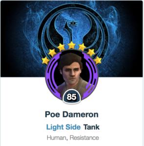 Poe Dameron - SWGOH - Mods