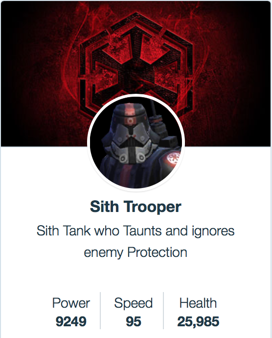 Sith Trooper  -  SWGoH