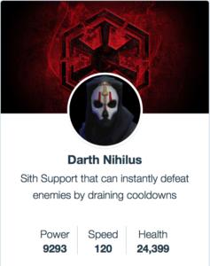 Darth Nihilus - SWGoH
