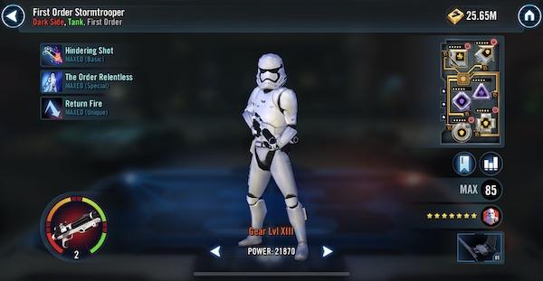 SWGoH - Stormtrooper prvního řádu