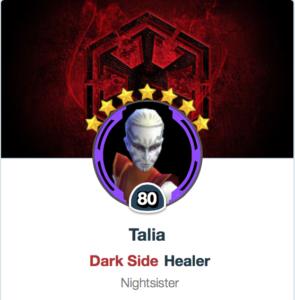 Mods for Talia - SWGoH