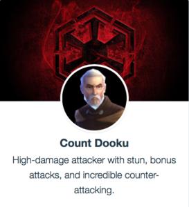 Count Dooku - SWGoH - Mods