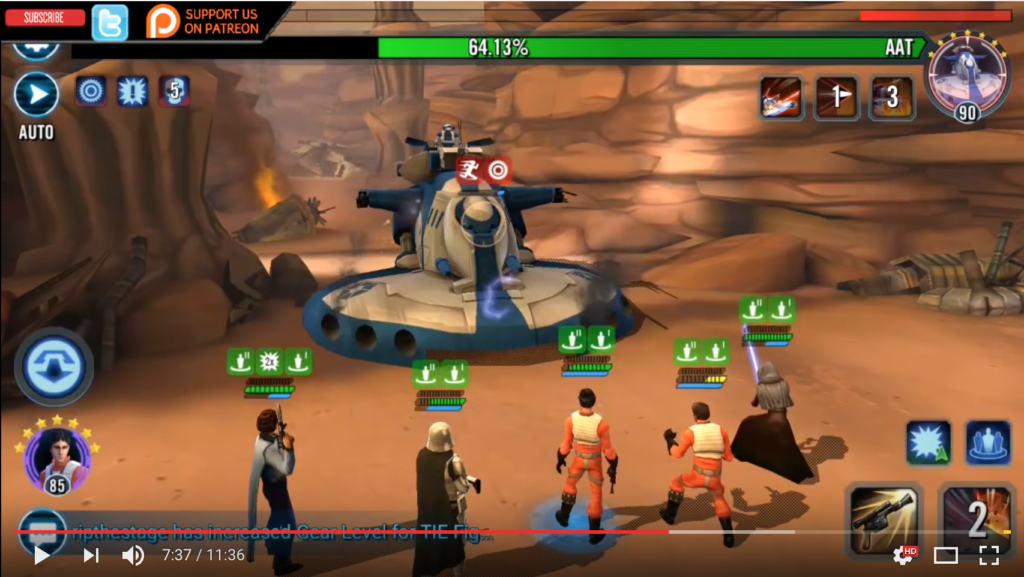 SWGoH Heroic AAT Phase 4 Over 10% F2P Team With Barriss Zeta