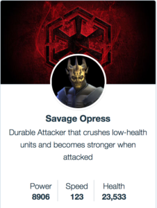 Savage Opress mods - SWGoH