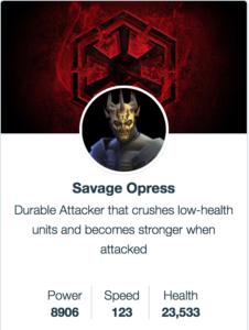 Моделі Savage Opress - SWGoH