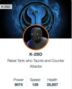 SWGoH: K-2SO Mods