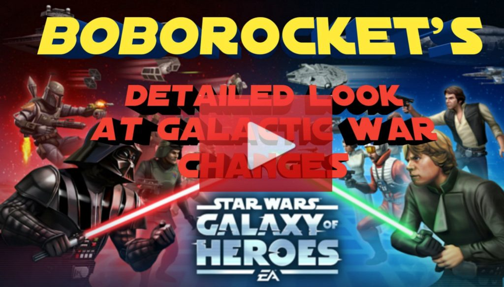 SWGoH - A Detailed Look at Galactic War Changes