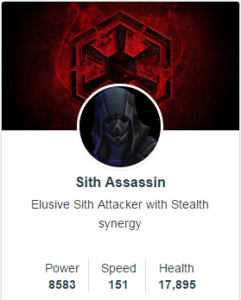 Sith Assassin mods - SWGoH