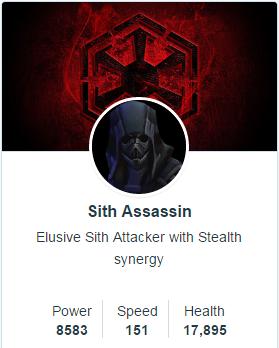 Sith Assassin mods - SWGoH