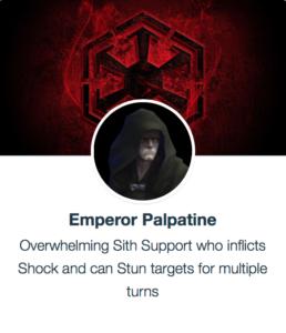 SWGoH Emperor Palpatine mods