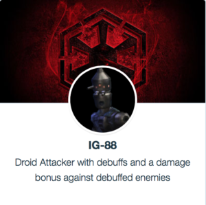 Mods for IG-88 - SWGoH
