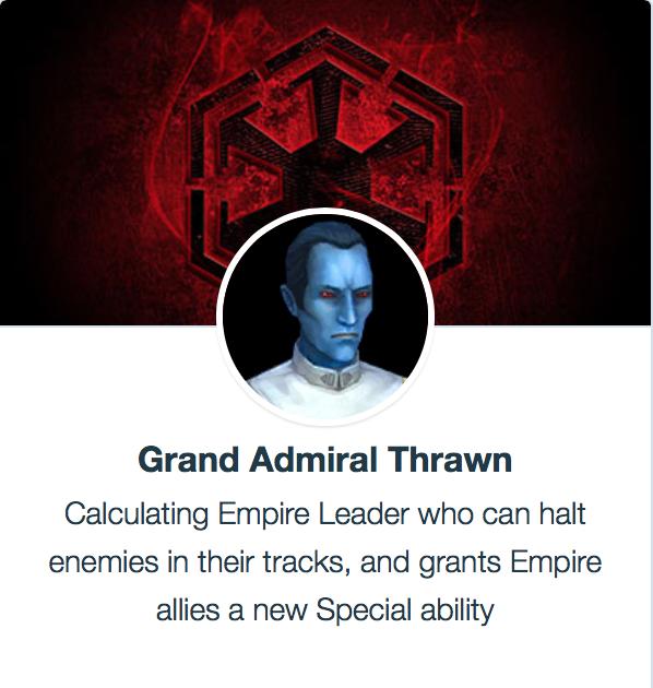 SWGoH Grand Admirál Thrawn