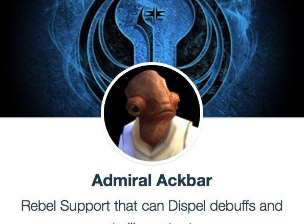 SWGoH - Admiral Ackbar