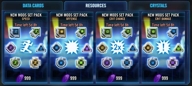 SWGoH - Mod Paketat