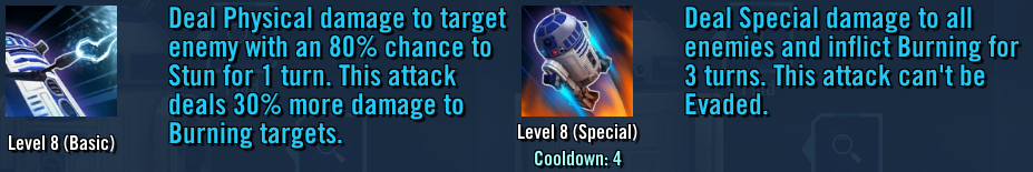 R2-D2 AoE and Basic Attacks