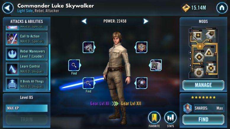 Komandanti Luke Skywalker - SWGoH