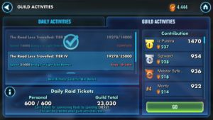 SWGoH - Guild Activities