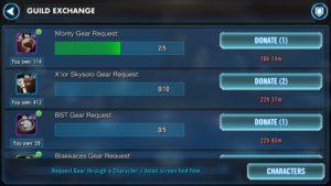 SWGoH - Guild Exchange