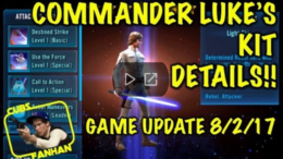 SWGoH: velitel Luke Skywalker Kit Reveal
