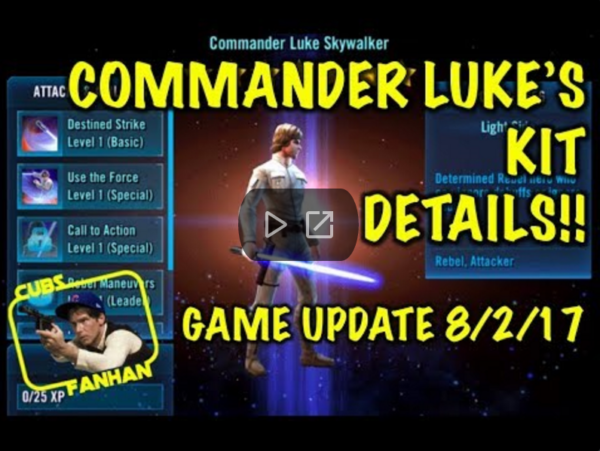SWGoH: Commander Luke Skywalker Kit Reveal