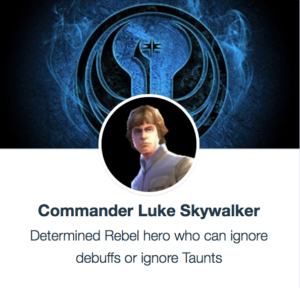 SWGoH - Komandanti Luke Skywalker
