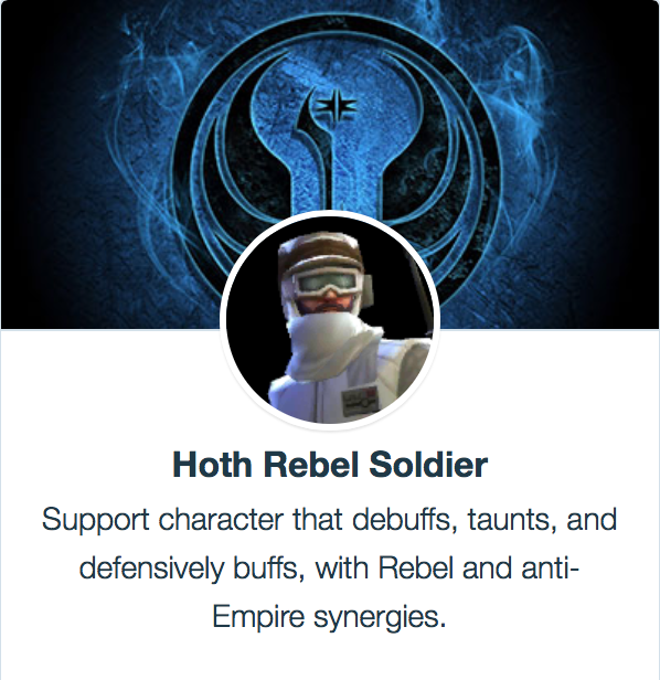 Hoth Rebel Soldier - SWGoH