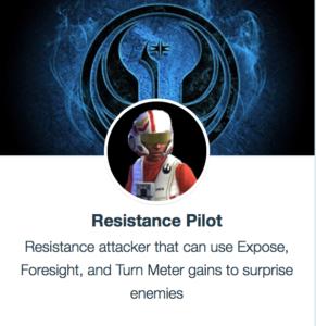 SWGoH - Resistance Pilot