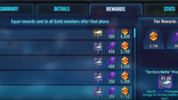 SWGoH - Territory Battles Rewards