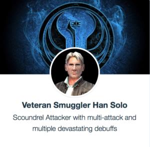 Veteran švercer Han Solo - SWGoH