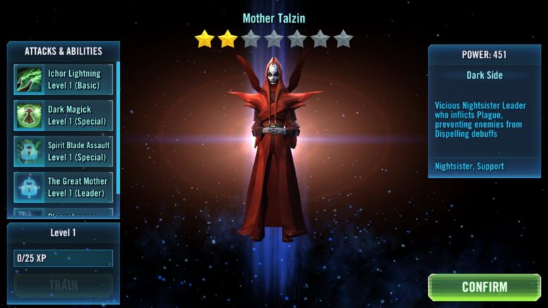 SWGoH Zeta Review: Mother Talzin | Gaming-fans com