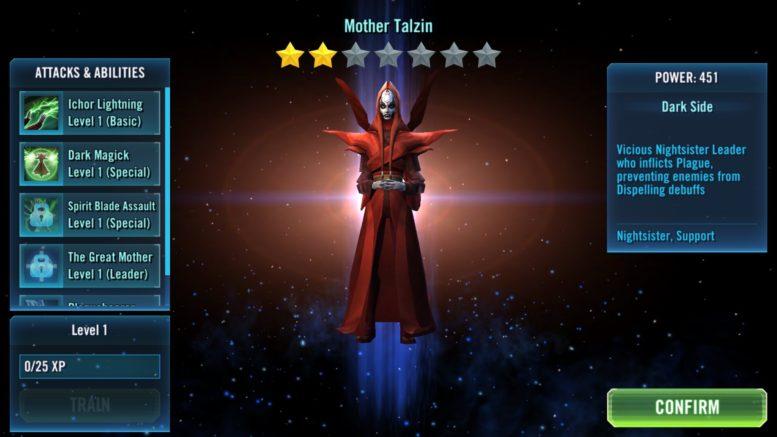 SWGoH - Motina Talzin