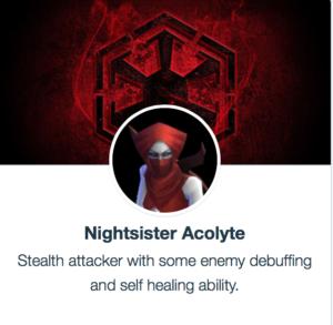 SWGoH - Nightsister Acolyte