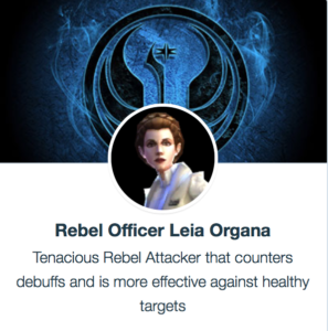SWGoH - Rebel Officer Leia Organa (ROLO)