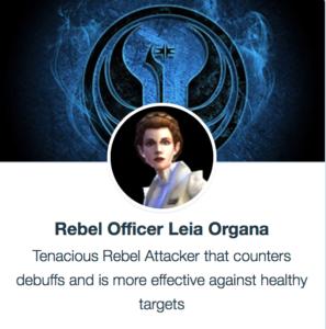 SWGoH - Rebel Officer Leia Organa (ROLO)