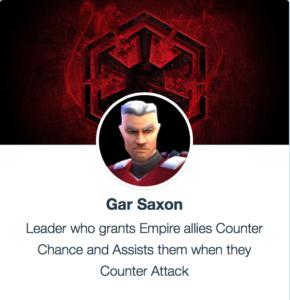 Gar Saxon - SWGoH