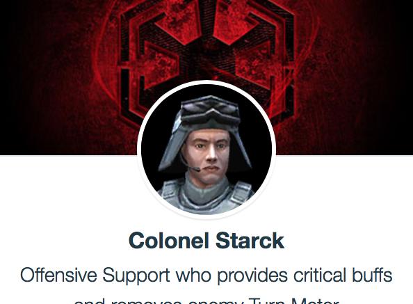 SWGoH - Coronel Starck