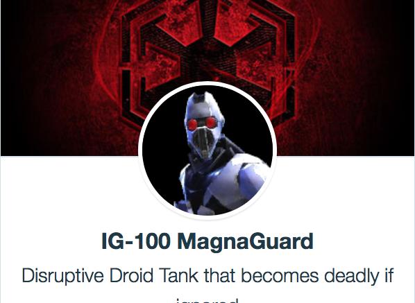 SWGoH - IG-100 MagnaGuard