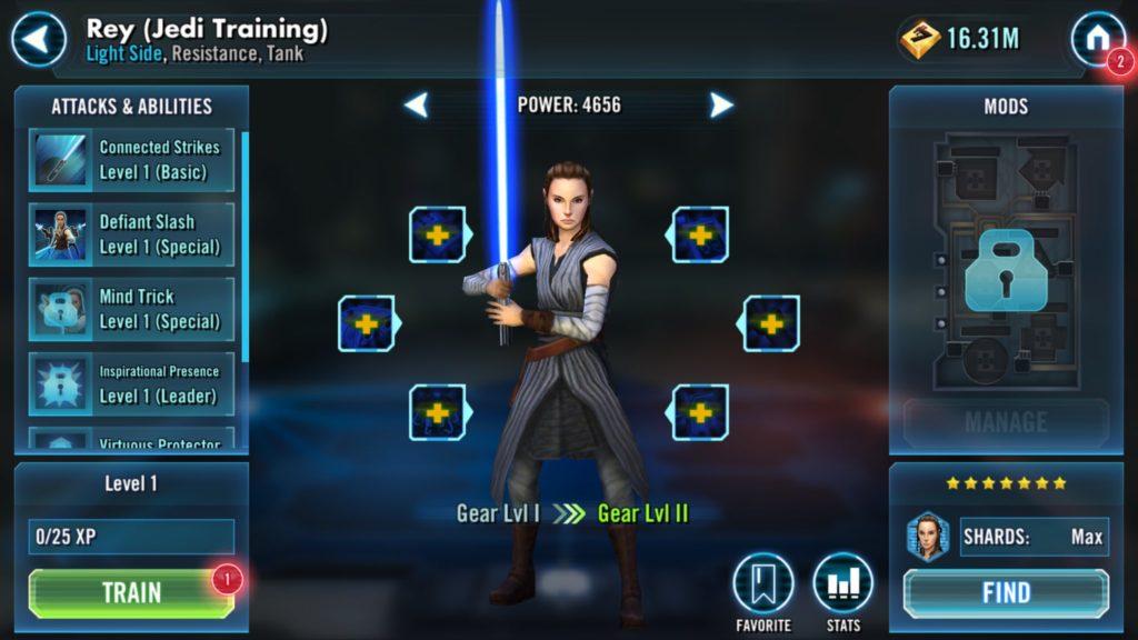 SWGoH - Εκπαίδευση Rey Jedi