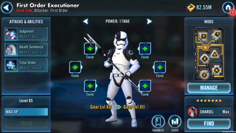 SWGoH: Best Mods for First Order Executioner | Gaming-fans com