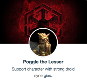 SWGoH - Poggle The Lesser