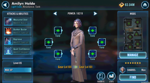 Vice Admiral Holdo - SWGoH