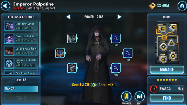 Kejsaren Palpatine - SWGoH