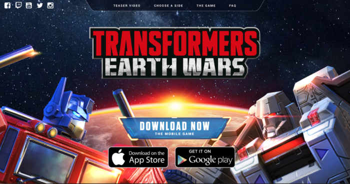 TFEW - Transformers Earth Wars