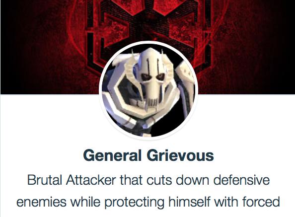 Генерал Гривус SWGoH