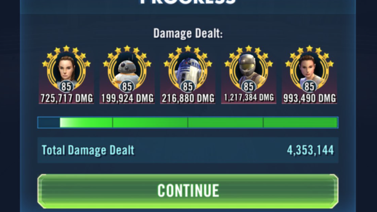 SWGoH: A Closer Look at RJT's Resistance team for Phase 1 of the