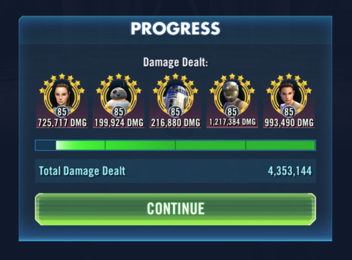SWGoH - RJT in STR Phase 1