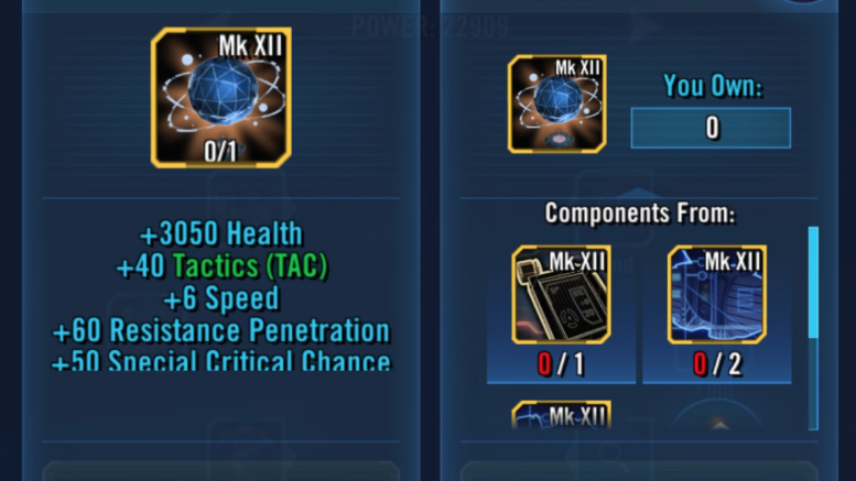 SWGoH - Gear 12