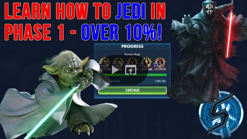 SWGoH - etapas 1 HSTR w / Yoda