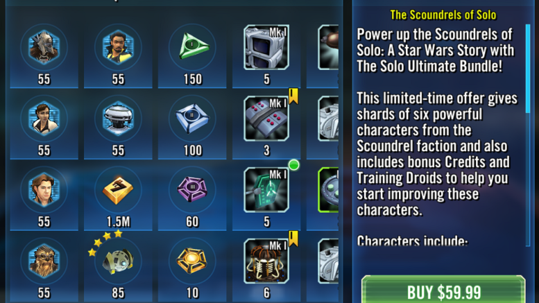 SWGoH: Should I Buy the Solo Ultimate Bundle? | Gaming-fans com