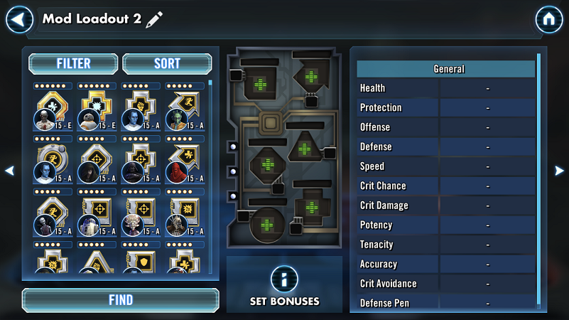 SWGoH 101 Mod Guide: Mod Loadouts | Gaming-fans com